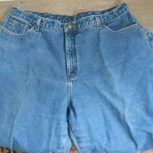 Denim - Red flannel lined jeans size 22 petite
